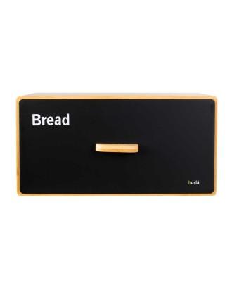 Bambukinė duonos dėžutė su stalčiumi HUSLA SCANDIC black